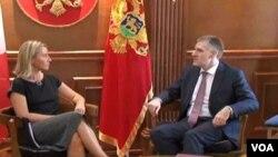 Igor Lukšić i njegova italijanska koleginica Federika Mogerini u Podgorici