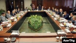 Azərbaycanın iqtisadiyyat naziri Şahin Mustafayev İranın enerji naziri Bijən Namdar Çitçiyanla görüşüb