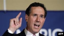 Republikanski predsednički pretendent Rik Santorum