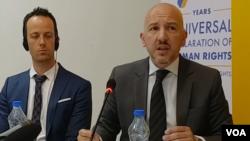 Arhiva - Miodrag Majić (desno), sudija Apelacionog suda u Beogradu, 24.maja 2018.