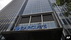 Trụ sở ngân hàng Barclays ở quận tài chính Canary Wharf, London, Anh.