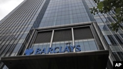 A view of Barclays headquarters at London's Canary Wharf financial district, July 3, 2012.