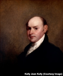 John Quincy Adams portrait by Gilbert Stuart. Quincy Adams was president from 1825-1829.