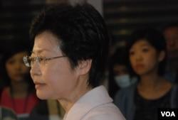 香港政務司司長林鄭月娥 (湯惠芸攝)