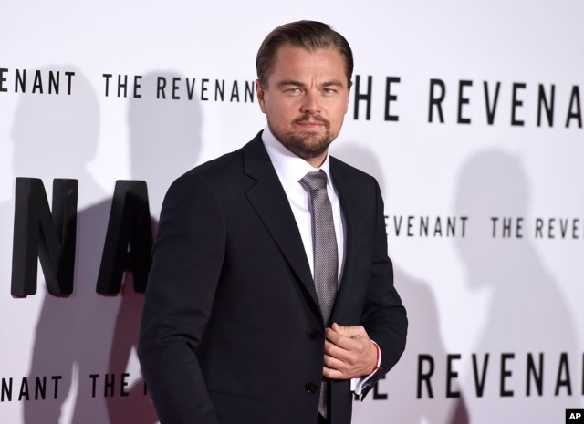 """Leonardo DiCaprio arrives at the at the world premiere of """"The Revenant"""" at the TCL Chinese Theatre on Dec. 16, 2015, in Los Angeles."""