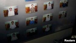 파나마에서 억류된 북한 선박 '청천강'호 선실에 선원들의 사진이 붙어있다.