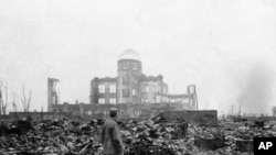 محل پرتاب بم اتمی در هیروشیمای جاپان