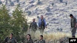 Các thành viên của Ðảng Công nhân người Kurd (PKK) tại dãy núi Qandil ở Iraq (ảnh tư liệu, ngày 13/8/2011)