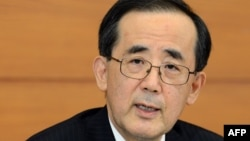 The Bank of Japan (BoJ) Governor Masaaki Shirakawa answers a question during a press conference at the BoJ headquarters in Tokyo, January 22, 2013.