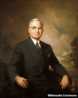 "Portrait of Harry S. Truman by Greta Kempton. Truman's middle initial, ""S,"" did not stand for one word. Instead, it honored both of his grandfathers, Anderson Shipp Truman and Solomon Young."