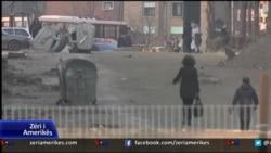 Ngritja e murit ne Mitrovice
