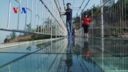 Scary Sights on China's First Glass-Bottom Bridge
