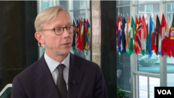 U.S. Special Representative for Iran Brian Hook speaks to VOA Persian at the State Department in Washington, Oct. 4, 2019. (K. Nha, VOA Persian)