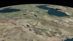 فیلم مسیر موشک های روسی از دریای خزر تا سوریه