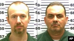 FILE - New York State Police photos show inmates David Sweat, left, and Richard Matt, who escaped from the Clinton Correctional Facility in Dannemora, N.Y., June 6, 2015.