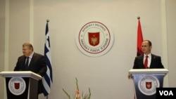 MInistri i jashtem shqiptar Ditmir Bushati me homologun grek Evangelos Venizelos