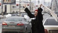 اعتراض رانندگان در خیابان های مسکو علیه پوتین