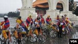 台灣藏人及人權團體舉行為西藏自由而騎活動