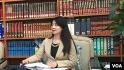 台灣外交部公眾外交協調會副執行長兼發言人歐江安(美國之音許寧攝影)