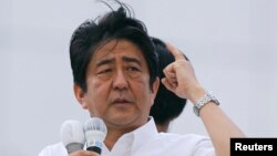 Bosh vazir Shinzo Abening reformalari natijasida Yaponiya iqtisodiyotida o'sish kuzatildi, bizneslarning o'ziga ishonchi ortdi va eksport ko'lami oshdi.
