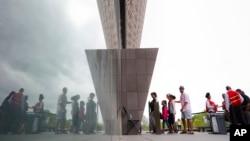 Turisti na Nacionalnom molu u Vašingtonu
