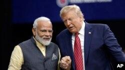 ၂၀၁၉ စက္တင္ဘာလ တုန္းက အိႏိၵယ၀န္ႀကီးခ်ဳပ္ Narendra Modi ႏွင့္ ကန္သမၼတ Trump ေတြ႔ဆံုစဥ္