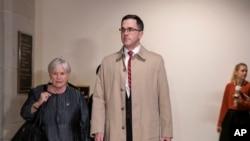 前特朗普高级国安顾问莫里森抵达国会,准备在闭门听证会上作证。(2019年10月31日)