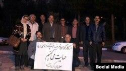 معلمان از تجمع کارگران «نیشکر هفت تپه» حمایت کردند