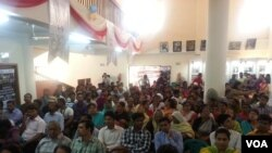 Town hall meeting, Rangpur, Bangladesh