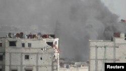 大馬士革市內戰火不斷