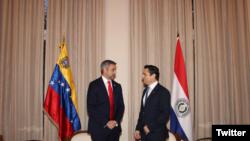 Desde su cuenta de Twitter, el embajadordel gobierno encargado de Venezuela ante Estados Unidos, Carlos Vecchio, agradeció su apoyo y publicó imágenes del encuentro.