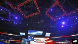 Inauguration du podium de la convention de Tampa