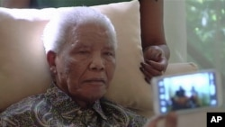 94岁的南非前总统曼德拉