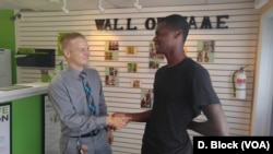 This 18-year old teenager meets the mayor for the first time, and tells him, he too, would like to see more business return to Indian Head.