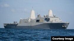 다음달 초 미한 해병대 쌍용훈련에 투입될 것으로 예상되는 미국 스텔스 상륙함 뉴올리언스호. 미 해군 홈페이지 제공.