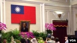 台湾总统府内的一个大厅(美国之音齐勇明摄 2016年5月8日)