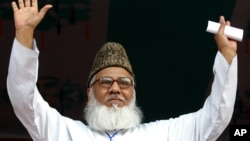 FILE - Maulana Matiur Rahman Nizami, chief of Bangladesh's fundamentalist Jamaat-e-Islami party.
