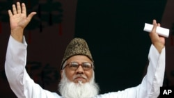 FILE - Motiur Rahman Nizami, chief of Bangladesh's fundamentalist Jamaat-e-Islami party.