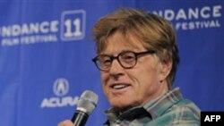 Роберт Редфорд, основатель кинофестиваля «Сандэнс». Город Парк Сити. Штат Юта. 20 января 2011 года