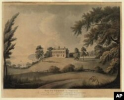 Alexander Robertson's painting of Mount Vernon was created in London in 1800 - the very year that Congress first met in the new national capital. We don't see a window air conditioner anywhere.