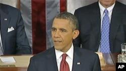 奥巴马总统星期二晚发表国情咨文演讲