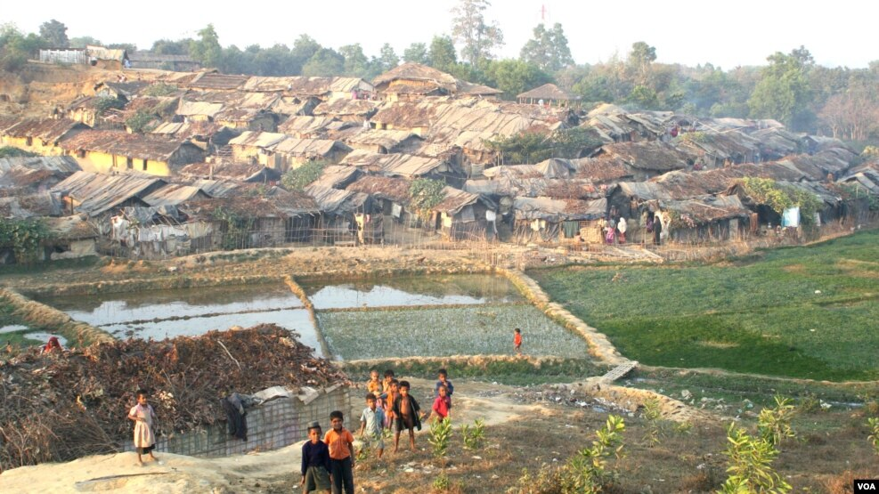 FILE - Some thousands of Rohingyas who fled Myanmar over the past decades live in this Kutupalong illegal Rohingya refugee colony in Cox's Bazar district, Bangladesh.