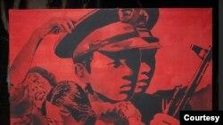 """被珍藏三十一年之后,第一批95件六四主题以""""门""""为线索的艺术品,将在线上永久展出,并将存放美国西海岸自由雕塑公园内即将建成的纪念馆中。图为该系列中的一幅油画。(亚裔美国人艺术中心、人道中国和自由雕塑公园提供)"""