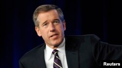 FILE - NBC's statement did not say whether Brian Williams, shown answering a question during the Television Critics Association winter press tour in California in 2010, would resume his anchor role after his suspension.