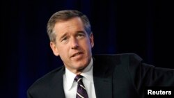 FILE - Brian Williams of NBC answers a question during the Television Critics Association winter press tour in Pasadena, Calif., Jan, 10, 2010.
