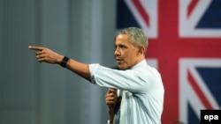 باراک اوباما در سفر اردیبهشت ۹۵ به لندن.