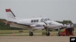 미 텍사스 주에서 웨스트나일 모기 항공 방제에 쓰일 항공기.