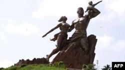 Le Monument de la Renaissance africaine, Dakar, Sénégal, le 27 septembre 2017.
