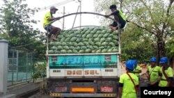 ေလလြင့္ေတာ့မယ့္ ေဂၚဖီထုပ္မ်ားကို ႏုိင္ငံတ၀န္း ျဖန္႔ရန္ ျပင္ဆင္ (ဓါတ္ပံု-Kyaw Thu FB )