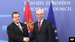 Predsednik Evropskog saveta Herman Van Rompuj i premijer Srbije Ivica Dačić